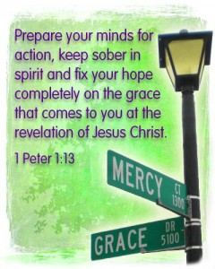 fix your hope on the grace of Jesus Christ